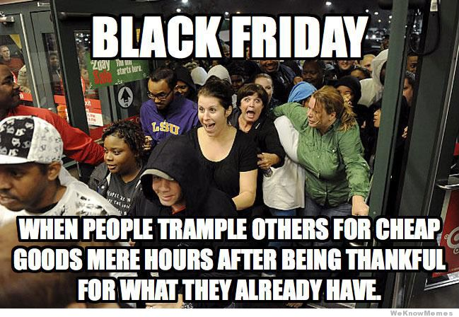 Black Friday image hypocricy Happy New Year article