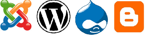 Joomla vs Wordpress logo images