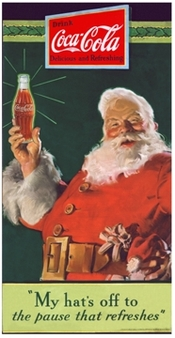 Santa Coke Happy New Year image for article