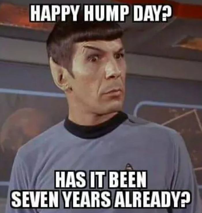 Hump Day Spock 7 Years