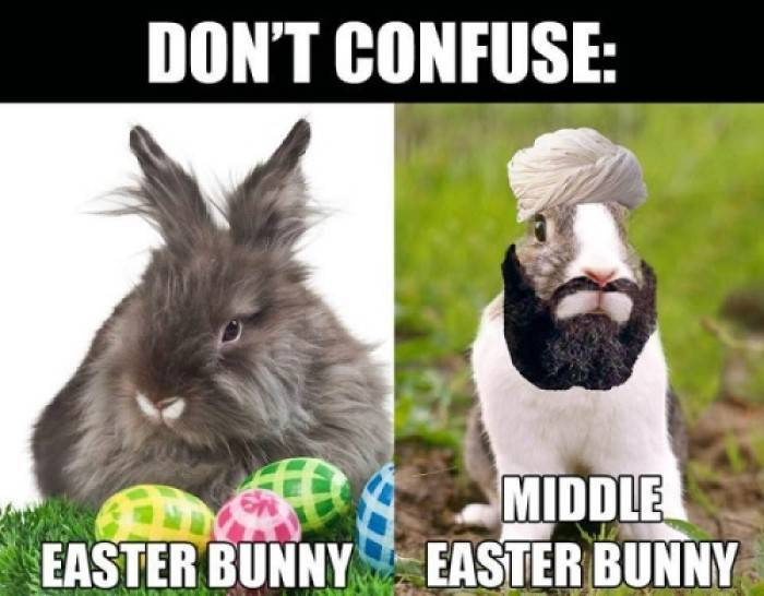 Easter Bunny vs Middle Easter Bunny