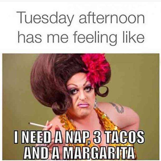 Tuesday Nap Tacos and Margarita