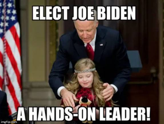 Biden is Hands On