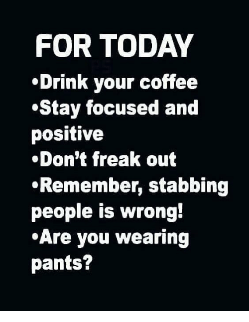 Start Today with Coffee