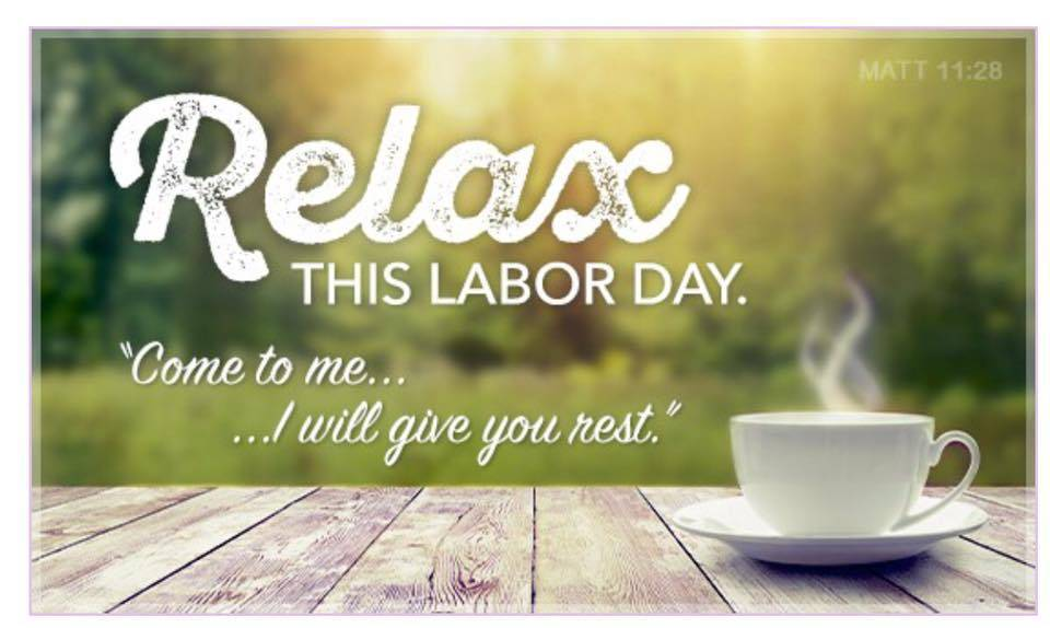 Do Relax with coffee this Labor Day